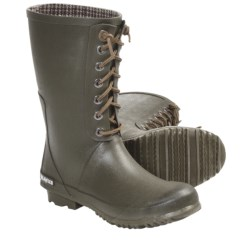 Sea Vees 04/65 Off Shore Rubber Boots - Waterproof, Half-Length (For Women) in Tarmac