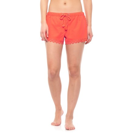 a7418ca51d Seafolly Bella Laser Cut Sides and Hem Boardshorts (For Women) in Sienna