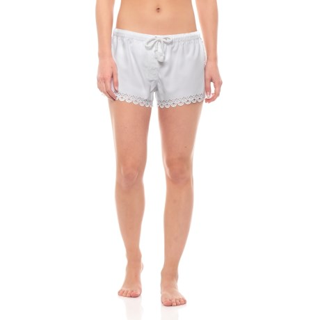 d7508440fe Seafolly Bella Laser Cut Sides and Hem Boardshorts (For Women) in White