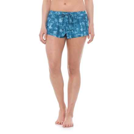 Seafolly Summertime Swim Boardshorts (For Women) in Denim - Closeouts