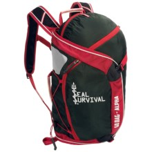 Seal Survival Alpha Go Bag Backpack in Black/Red - Closeouts