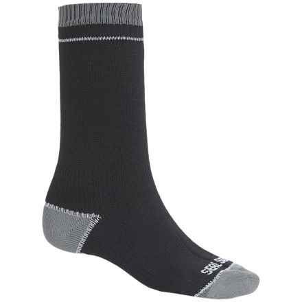 SealSkinz Albatross Thin Socks - Waterproof, Mid Calf (For Men and Women) in Black/Grey - Closeouts