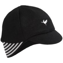 SealSkinz Belgian Style Cycling Cap - Waterproof (For Men and Women) in Black - Closeouts