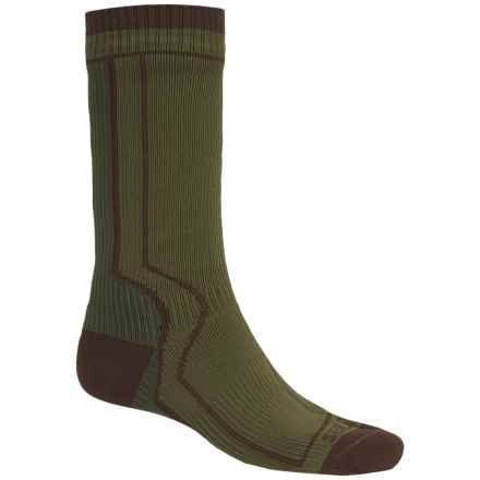 SealSkinz Heavyweight Trekking Socks - Waterproof, Crew (For Men and Women) in Green - Closeouts