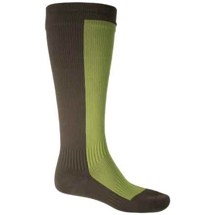 Sealskinz Hiking Mid Socks - Waterproof, Over the Calf (For Men) in Golden Moss/Dark Olive - Closeouts