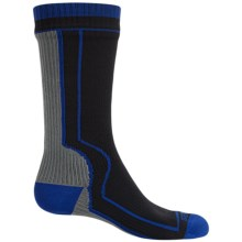 SealSkinz Mid-Length Waterproof Socks - Merino Wool Lined, Crew (For Men and Women) in Black/Grey - Closeouts