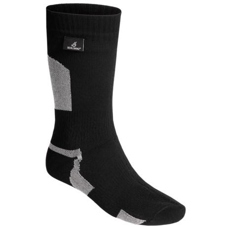 SealSkinz Mid-Length Waterproof Socks - Merino Wool Lined, Lightweight (For Men and Women) in Black