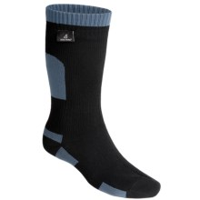 SealSkinz Mid-Length Waterproof Socks - Merino Wool Lined, Midweight (For Men and Women) in Black/Blue - Closeouts