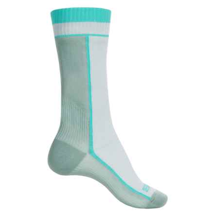 Sealskinz Midweight Merino Wool Socks - Waterproof, Mid Calf (For Women) in White/Aqua - Closeouts