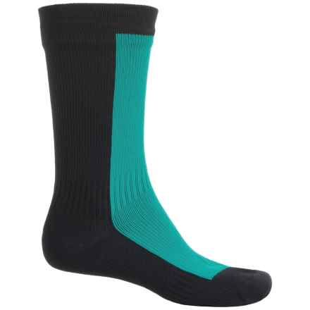 SealSkinz StretchDry Waterproof Hiking Socks - Crew (For Men and Women) in Pine/Black - Closeouts