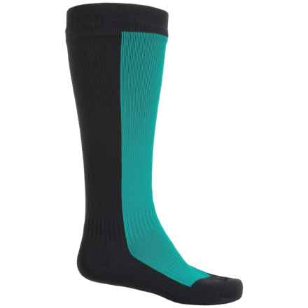 SealSkinz StretchDry Waterproof Hiking Socks - Over the Calf (For Men and Women) in Pine/Black - Closeouts