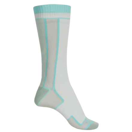 Sealskinz Thin Merino Wool Socks - Waterproof, Mid Calf (For Women) in White/Aqua - Closeouts