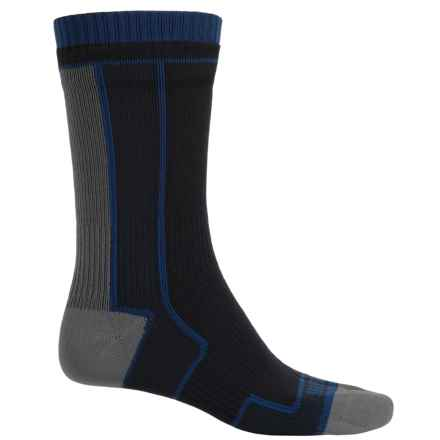 SealSkinz Thin Socks - Merino Wool Lined, Mid Calf (For Men and Women) in Black/Grey - Closeouts