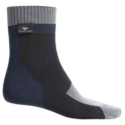 SealSkinz Thin Socks - Waterproof, Ankle (For Men and Women) in Black/Blue/Grey - Closeouts