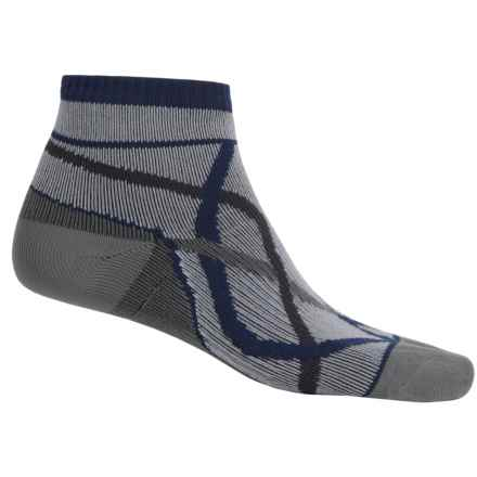SealSkinz Thin Waterproof Socks - Merino Wool Lined, Ankle (For Men and Women) in Grey/Blue - Closeouts