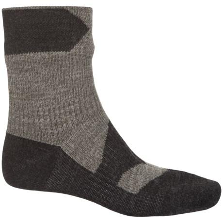 Sealskinz Walking Thin Merino Wool Socks - Waterproof, Ankle (For Men) in Olive Marl/Charcoal