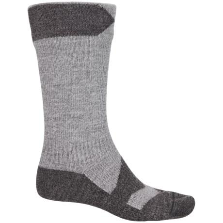 Sealskinz Walking Thin Mid Socks - Waterproof, Crew (For Men) in Grey Marl/Dark Grey Marl