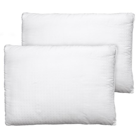 Sealy Cotton Damask Dot-Stripe Bed Pillows - Jumbo, 2-Pack, 300 TC in White