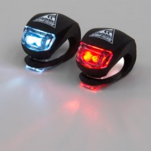 Seattle Sport Bike Light Blazers - 2-Pack in Black W/White/Black W/Red Led - Closeouts
