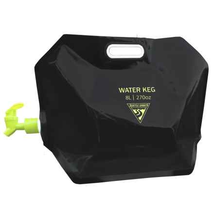 Seattle Sports AquaSto Water Keg - 8L in Black - Closeouts