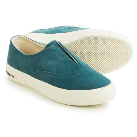 SeaVees 01/64 Sunset Strip Sneakers - Suede, Slip-Ons (For Women) in Tide Blue - Closeouts