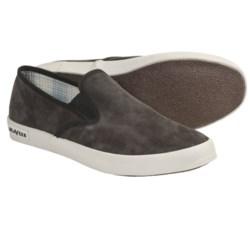 SeaVees 02/64 Baja Shoes - Nubuck, Slip-Ons (For Men) in Blacktop Tumbled Nubuck