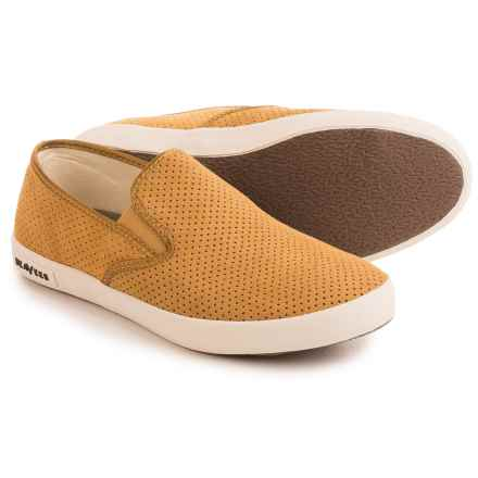 SeaVees 02/64 Baja Varsity Sneakers - Suede, Slip-Ons (For Women) in Harvest - Closeouts