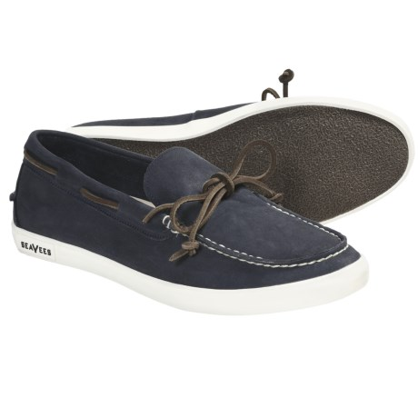 SeaVees 03/66 Sloop Moccasins - Nubuck (For Men) in Slate Navy Leather