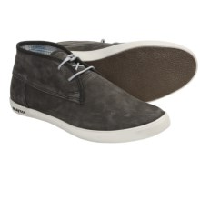 SeaVees 04/60 2 Eye Floater Ankle Boots - Nubuck (For Men) in Blacktop Tumbled Nubuck - Closeouts