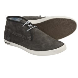 SeaVees 04/60 2 Eye Floater Ankle Boots - Nubuck (For Men) in Blacktop Tumbled Nubuck