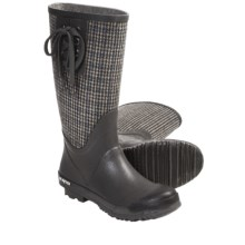 SeaVees 04/65 Mid-Length Off Shore Rubber Boots (For Women) in Grey/Plaid Flannel - Closeouts