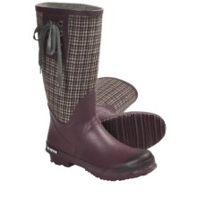 SeaVees 04/65 Mid-Length Off Shore Rubber Boots (For Women) in Port/Plaid Flannel - Closeouts