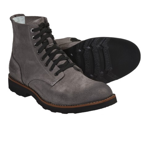 SeaVees 05/63 Boondocker Boots - Leather (For Men) in Gunmetal Roughout Leather