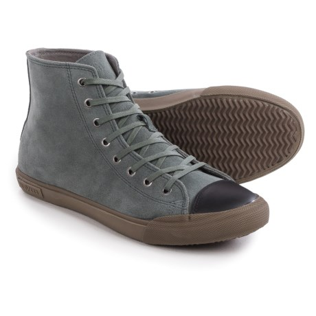 SeaVees 08/61 Army Issue High Dharma Sneakers - Leather (For Men) in Greyboard