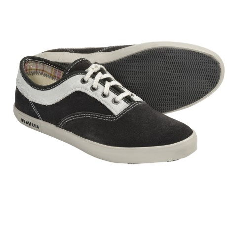 SeaVees 09/61 Volunteer Plimsoll Shoes - Lace-Ups (For Women) in Blacktop Suede