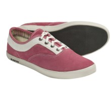SeaVees 09/61 Volunteer Plimsoll Shoes - Lace-Ups (For Women) in Slate Rose Suede - Closeouts