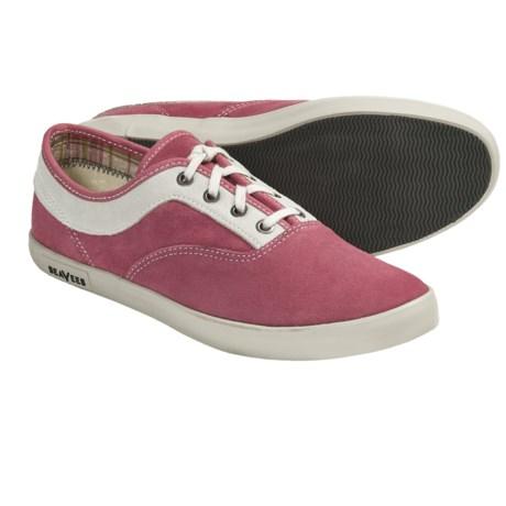 SeaVees 09/61 Volunteer Plimsoll Shoes - Lace-Ups (For Women) in Slate Rose Suede