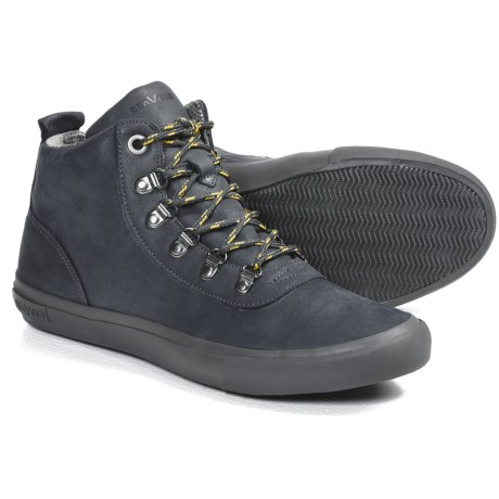 SeaVees 09/64 Hiker Shoes (For Men) in Slate Navy Leather