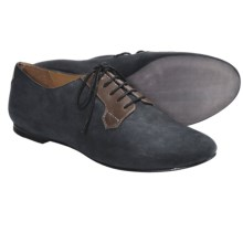 SeaVees 10/60 Buck Shoes - Nubuck-Leather, Lace-Ups (For Women) in Black Nubuck/ Dark Brown Leather - Closeouts