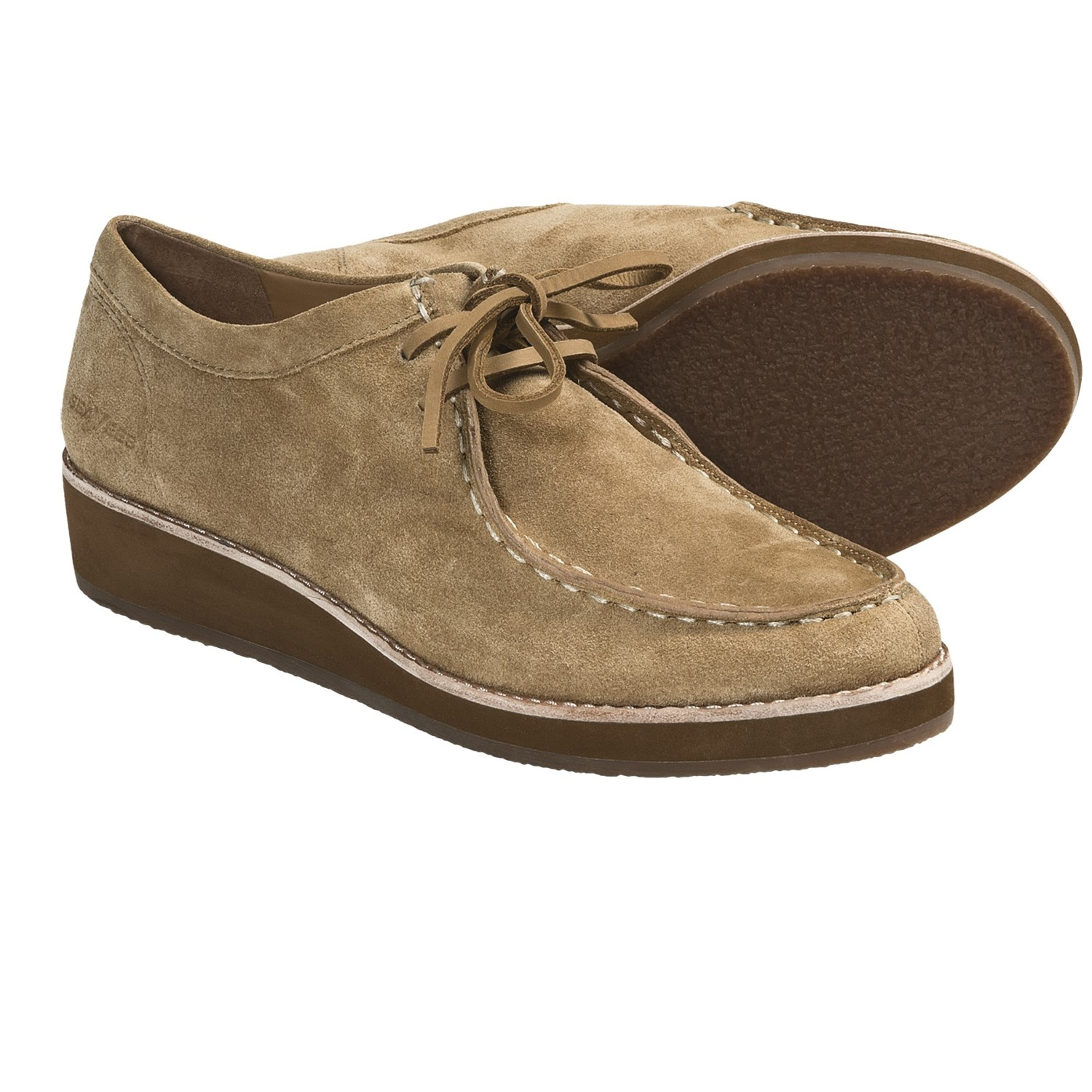 Chestnut suede oxford shoes - Dorothy Perkins - Polyvore