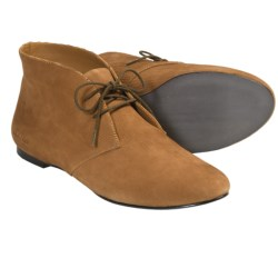 SeaVees 12/67 Chukka Boots - Scratch Leather (For Women) in Pewter Scratch Leather
