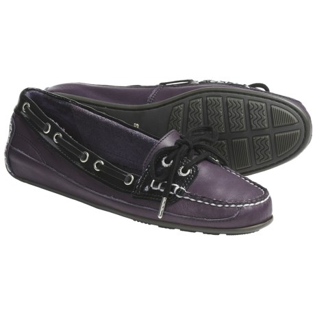 Sebago Bala Moccasin Shoes - Leather (For Women) in Violet Ice