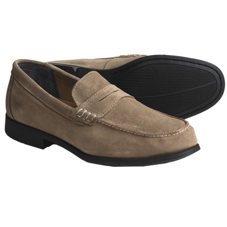 Sebago Cambridge Classic Shoes - Penny Loafers (For Men) in Taupe Suede