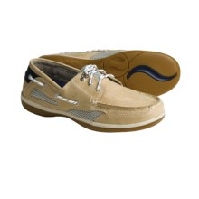 Sebago Castine Leather Boat Shoes (For Women) in Taupe Nubuck - Closeouts