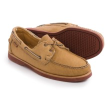 Sebago Crest Docksides® Boat Shoes - Bison Leather (For Men) in Tan Bison Leather - Closeouts