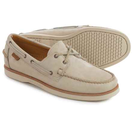 Sebago Crest Docksides® Boat Shoes (For Men) in Beige Nubuck - Closeouts