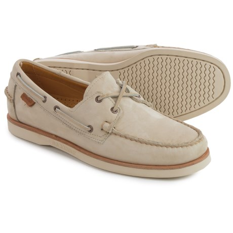 Sebago Crest Docksides® Boat Shoes (For Men) in Beige Nubuck