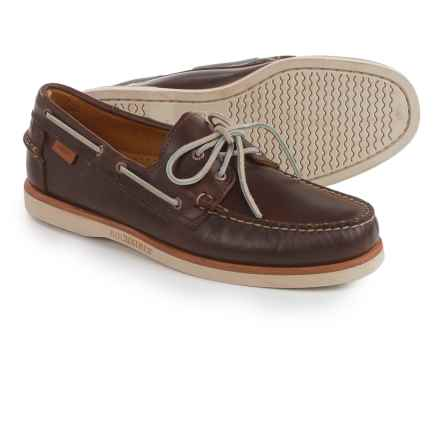 Sebago Crest Docksides® Boat Shoes (For Men) in Dark Brown Leather - Closeouts