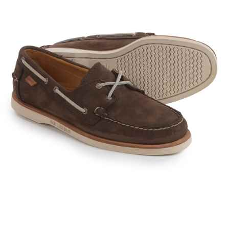 Sebago Crest Docksides® Boat Shoes (For Men) in Dark Brown Nubuck - Closeouts
