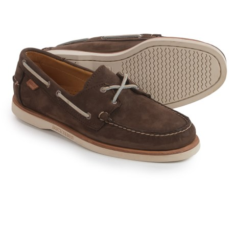 Sebago Crest Docksides® Boat Shoes (For Men) in Dark Brown Nubuck
